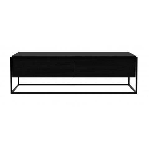 meuble tv monolit d ethnicraft chene noir