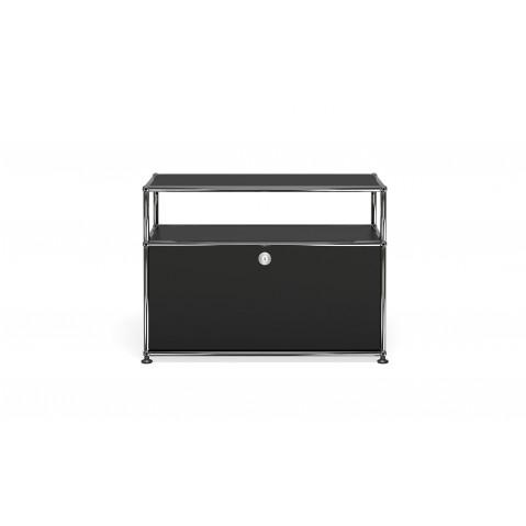 petit meuble de rangement usm haller o1 noir graphite
