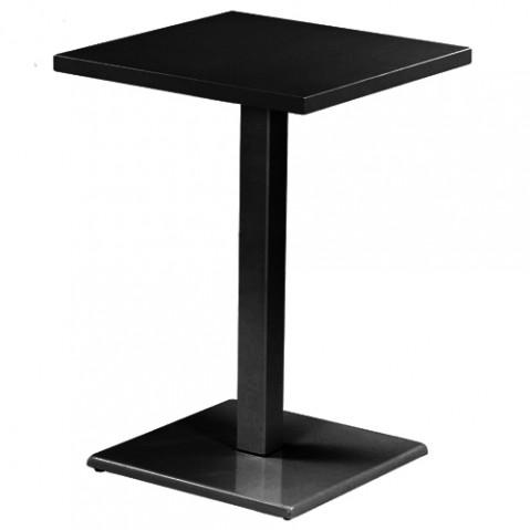 table haute round de emu noir