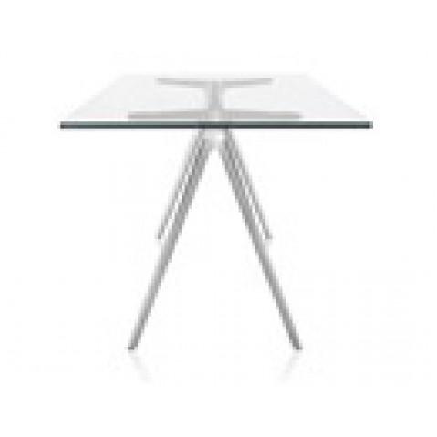 table en verre baguette de magis l 160 cm