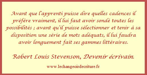 Devenir écrivain Stevenson