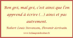 Devenir écrivain Robert Louis Stevenson