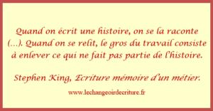 cit écriture mémoire d'un métier King
