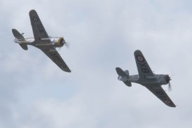 Curtiss P-36C and Hawk 75 Flying Legends 2015