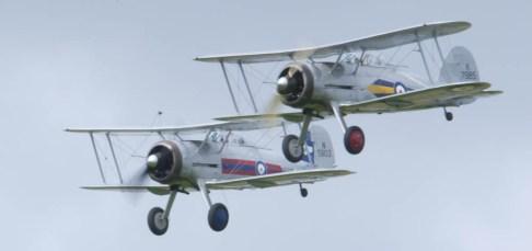 Gloster Gladiator patrol Flying Legends 2015 - 02