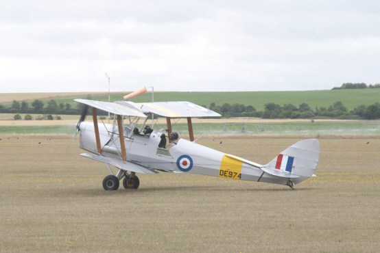 A Tiger Moth at Flying Legends 2015.