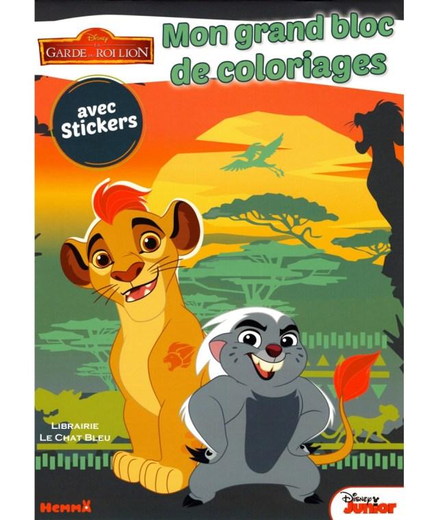 La Garde du Roi Lion (Disney) : Mon grand bloc de coloriages