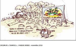 Dessin de Tignous, paru dans Charlie Hebdo, novembre 2014