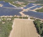 La centrale photovoltaïque de 82 MWc réalisée par Solairedirect à Gréoux-les-Bains.