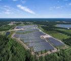La centrale photovoltaïque de Brach, dans le Médoc, d'une puissance de 11,6 MWc, réalisée par Valorem