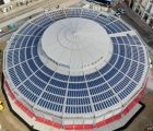La toiture photovoltaïque des Halles Laissac au coeur de Montpellier. Photo : S'Tile
