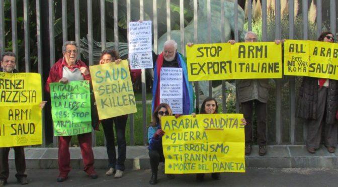 Comuni contro la vendita di armi all'Arabia Saudita