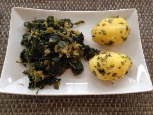 Brennelsselgemüse mit Kräuterkartoffeln