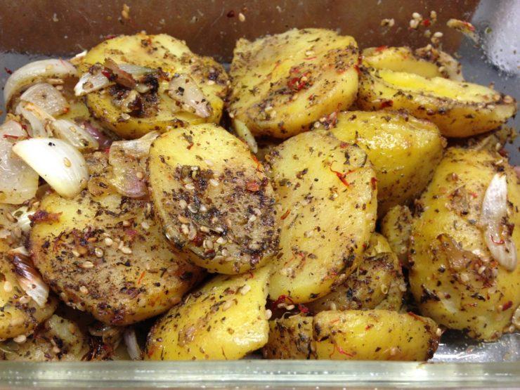 Gebackene Zatar Kartoffeln