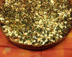 Pastinaken Tarte mit Haselnuss Zitronen Pesto