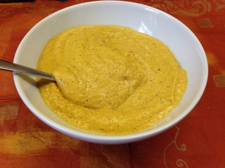 Orangen Curry Cashew Dip