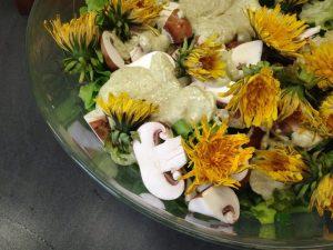 Blattsalat mit Avocado Ceasar Dressing