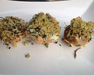 Marinierte Gefüllte Champignons mit Rosmarin-Gewürz-Reis