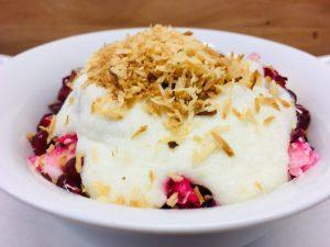 Rote Bete Salat mit Kokosnuss und Birne