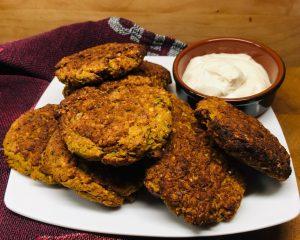High Fiber Gemüse Linsen Burger mit Blumenkohl