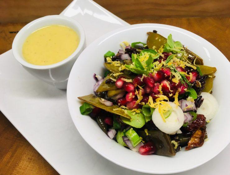 Schwarzer Reis Salat mit Grünen Bohnen