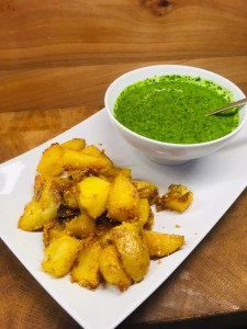 Kartoffeln mit grüner Mojo Sauce