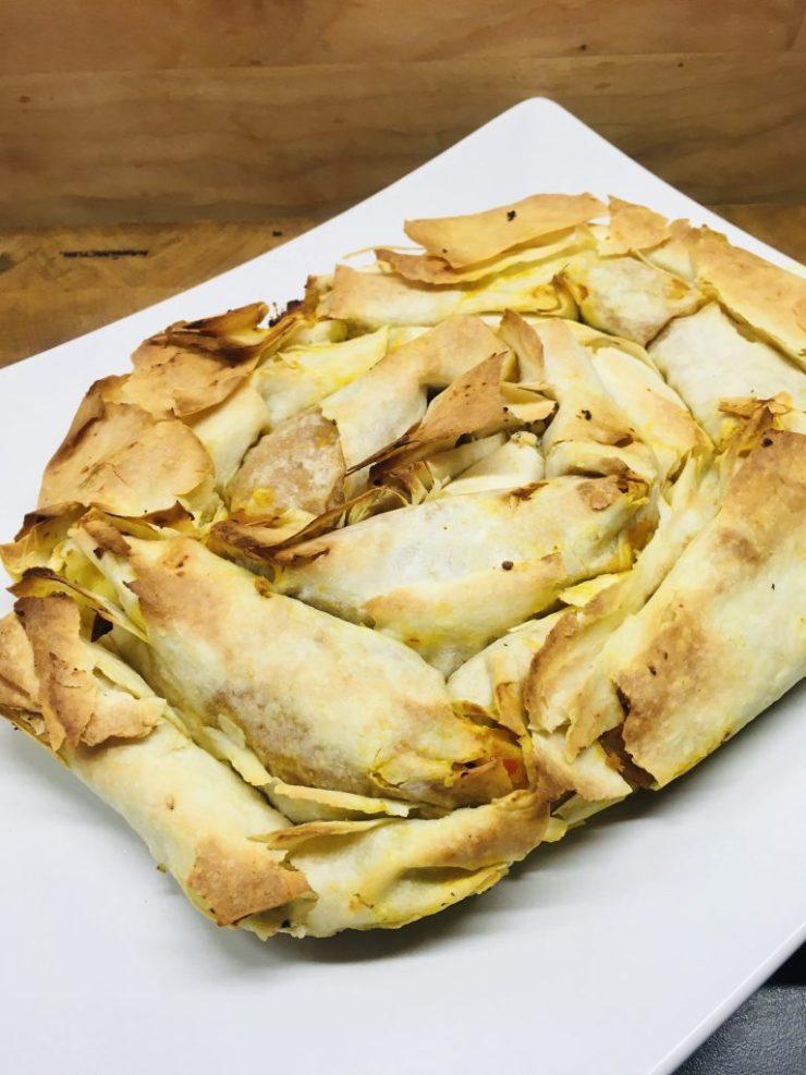 Kolokithotirópita striftí - Griechischer Kürbisstrudel mit Schafskäse