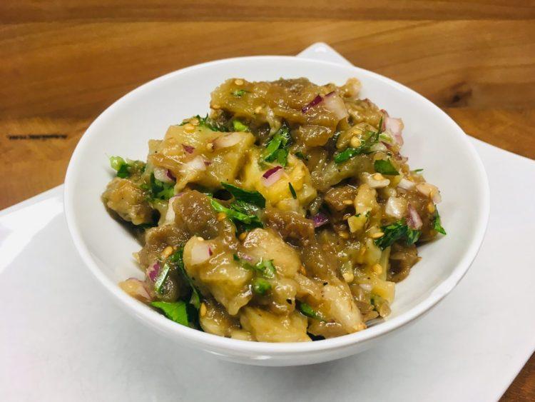 Griechischer Melitzanosalata Auberginen Salat Dip