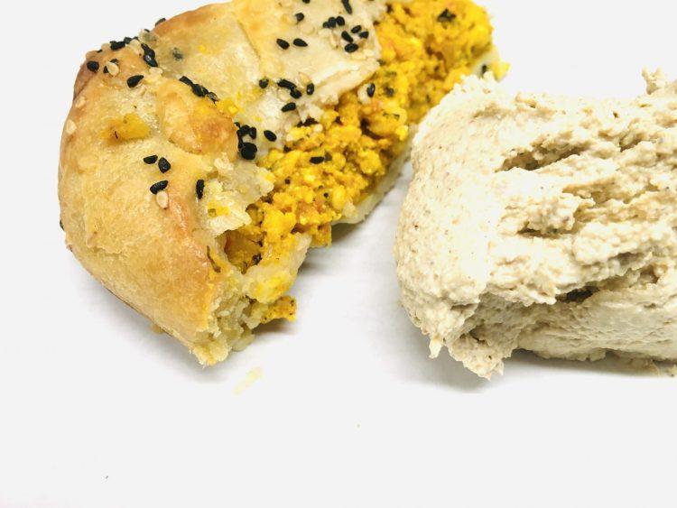 Kürbisstrudel mit Buchweizen Hummus