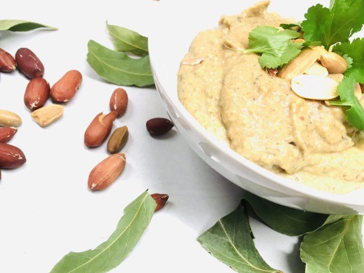 Auberginen-Erdnuss-Dip