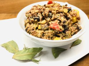 Kokos Kidneybohnen Reis aus der karibischen Küche