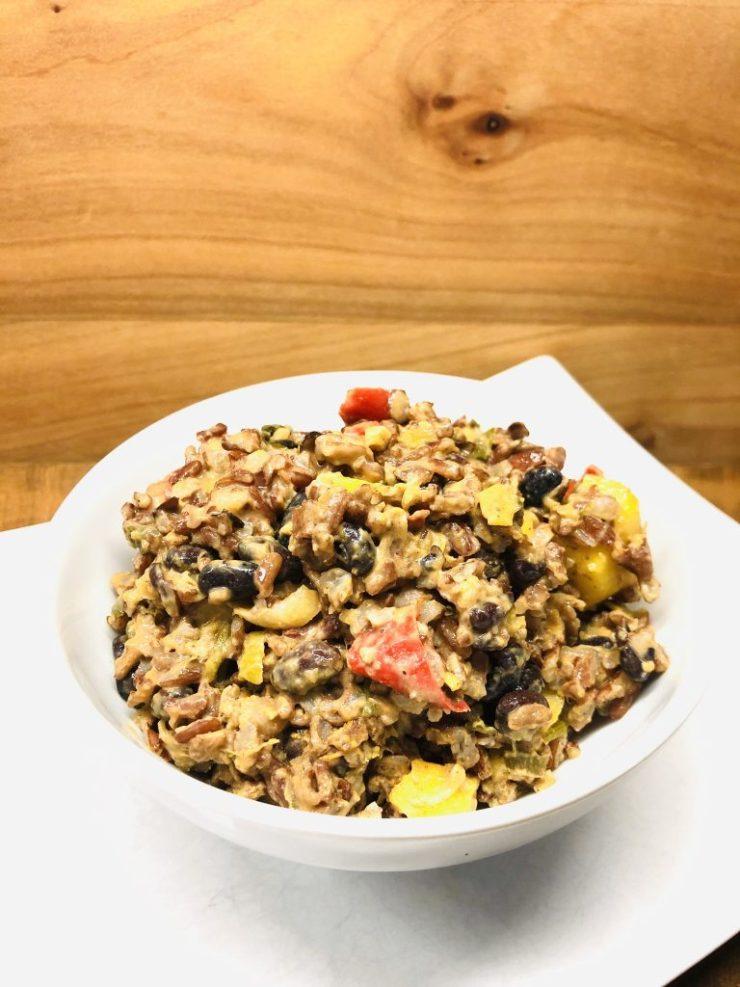 Kokos Kidneybohnen Reis mit Mango