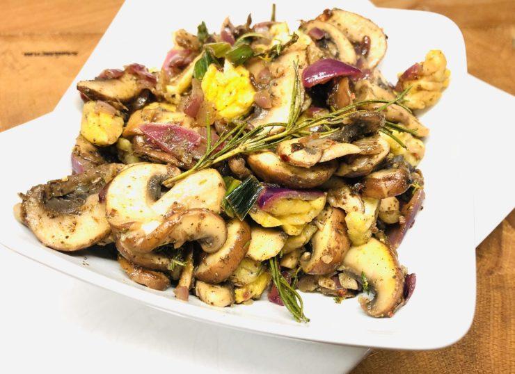 Gebratene Pilze mit Maronen und Za'atar