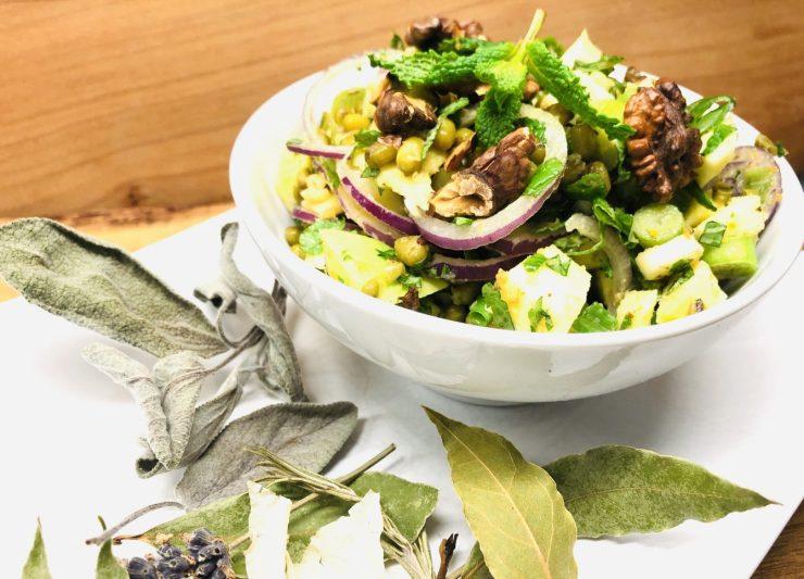 Mungo Bohnen Salat mit Mango