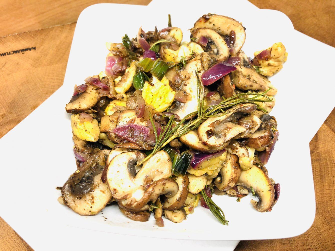 Geröstete Pilze und Maronen mit Za'atar