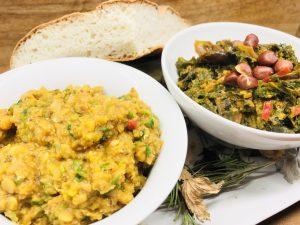 Äthiopische Linsen mit Erdnuss Grünkohl