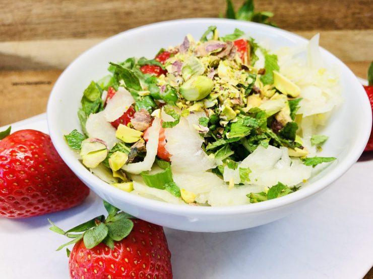 Fenchel Salat mit Erdbeeren