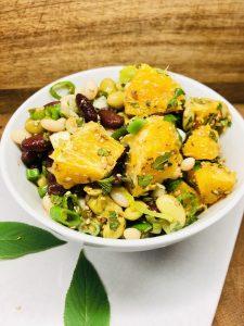 Bohnen Salat mit Orangen und Sesam, Zitrus Soja Dressing