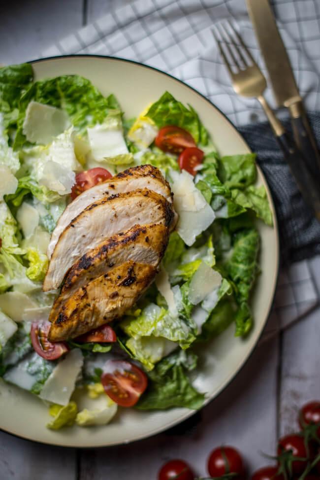lowfat und lowcarb caesar salad