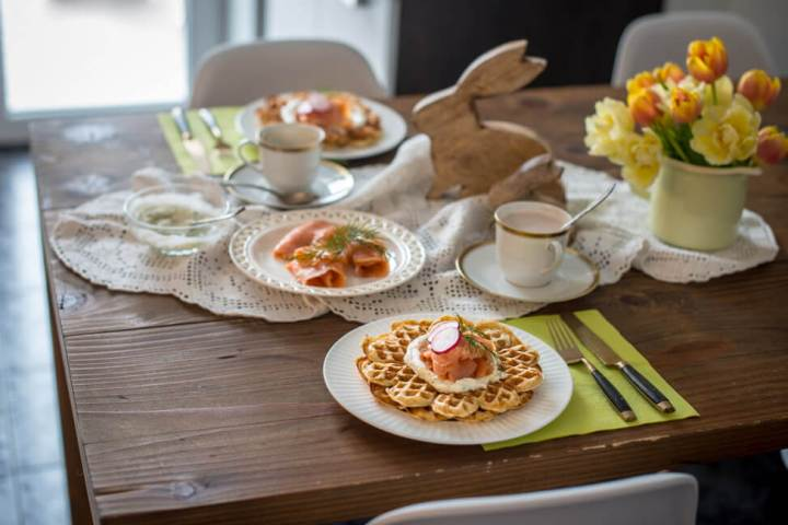 Vollkorn Waffeln - das perfekte Osterfrühstück