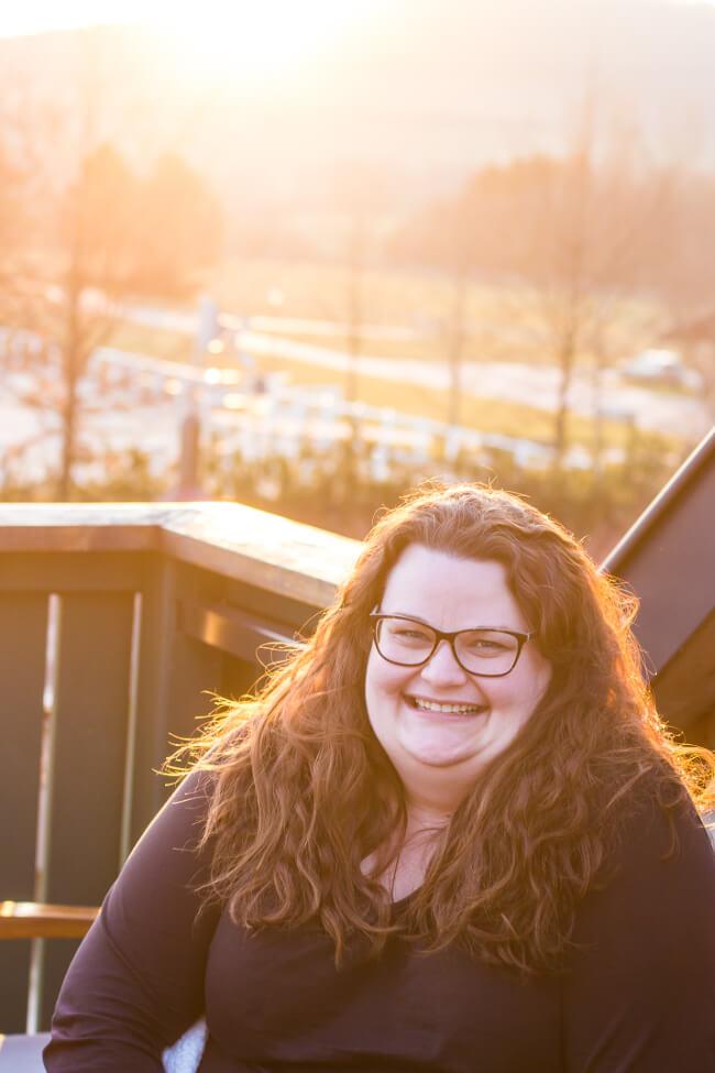 Sonnenuntergang beim Bloggertreffen in Marburg