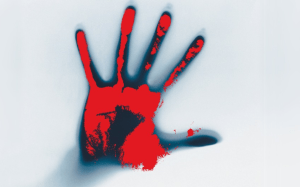 bloody hand