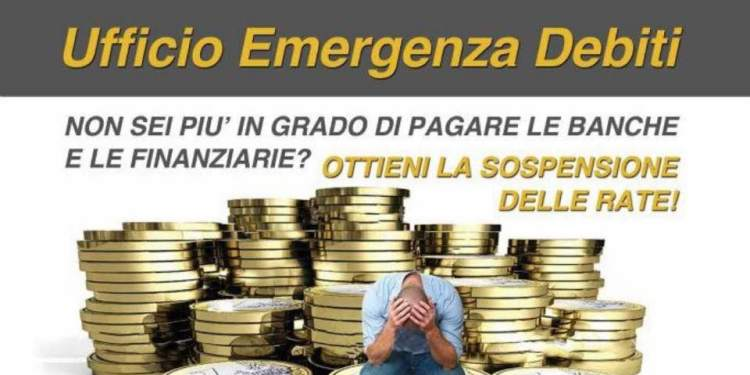 ufficio emergenza debiti