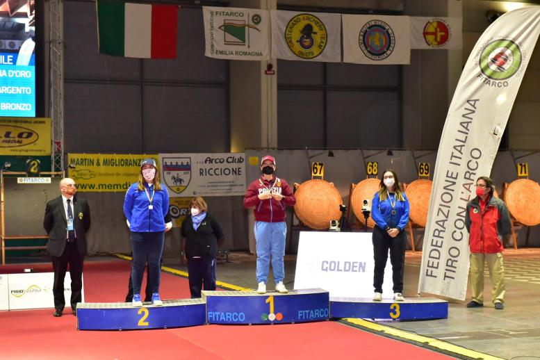 Chiara Rebagliati sul podio a Rimini