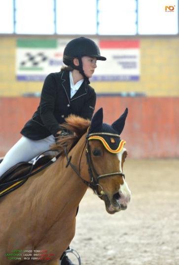 L'amazzone finalese Chiara Valsecchi con la pony Qiss Me De Loups