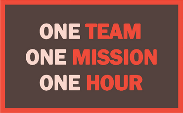 One team One mission One Hour