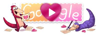 Google Doodle Saint Valentin