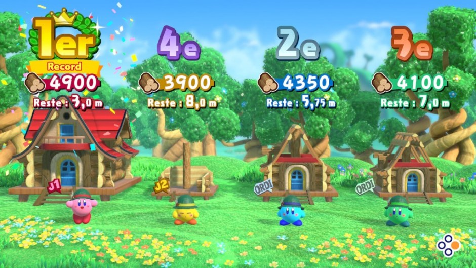 Kirby Star Allies mini-jeux