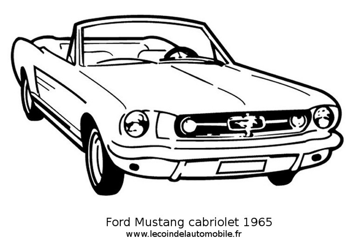 Dessin Ford Mustang