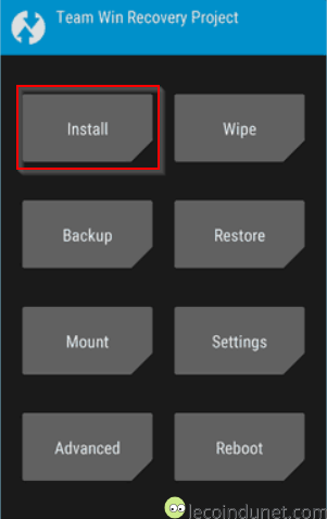Install - TWRP